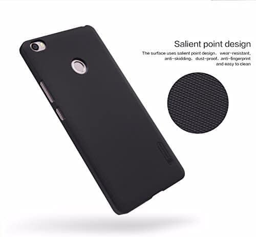 Nillkin Frosted Shield Hard Back Cover Case For Xiaomi Mi Max (6.44 inch)- Black 1