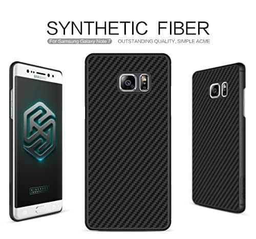Original NILLKIN Synthetic Fiber Series Carbon Material Clear Texured Unique Style Protective Back Cover Case for Samsung Galaxy Note 7 - ( Black Color ) 1