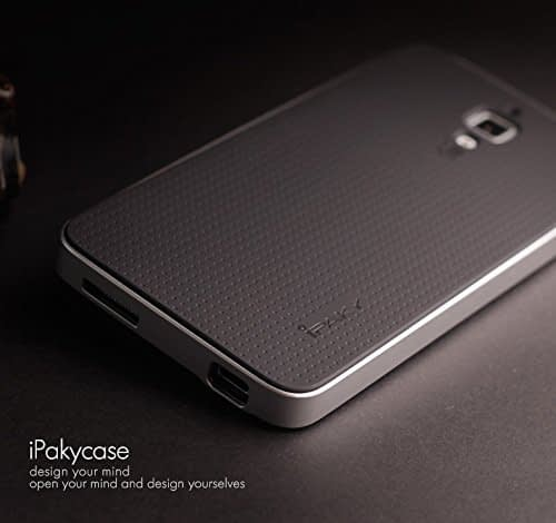 Original iPaky Brand Luxury High Quality Ultra-Thin Dotted Silicon Black Back + PC Silver Frame Bumper Back Case Cover For Xiaomi mi 4 - Black Silver 6