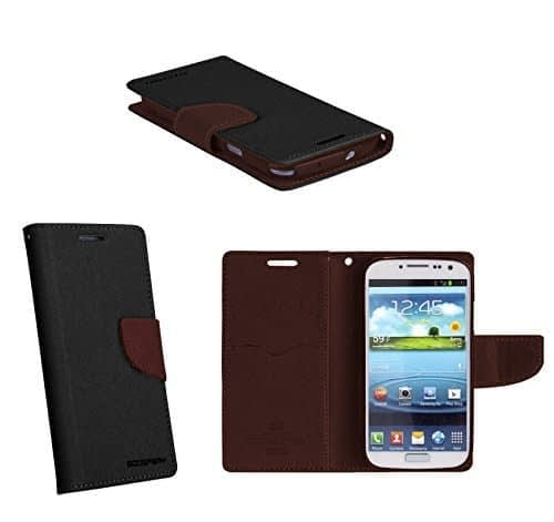 Cubezap Mercury Goospery Diary Wallet Flip Case Back Cover for Samsung Galaxy S4 IV i9500 - Brown Black 1