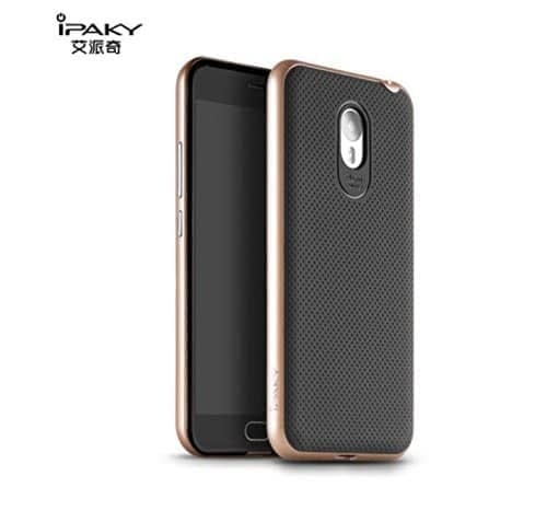 Original iPaky Brand Luxury High Quality Ultra-Thin Dotted Silicon Black Back + PC Gold Frame Bumper Back Case Cover For Meizu M2 Note 1
