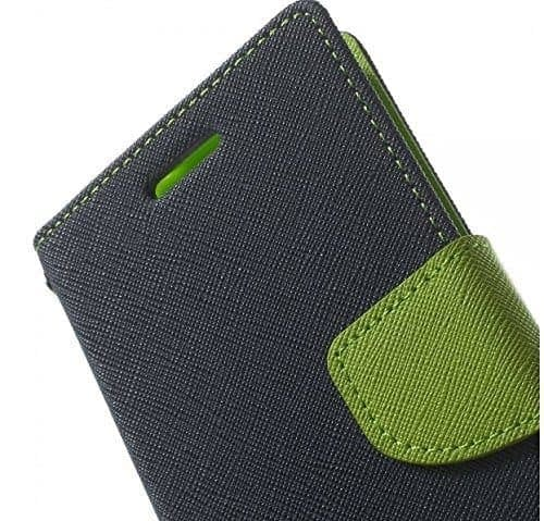 J.N. Mercury Fancy Flip Wallet Case Cover for Micromax YU Yureka/Yureka AQ5510 - Blue/Green 3