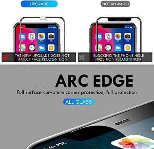 "Royal Star 9D Curved (Zero Feel 0.18mm) (Ultra Thin) 9H Full Coverage Screen Tempered Glass Protector Guard for (Apple iPhone Xs Max (6.5"") (Zero Feel Glass), Black) 6"