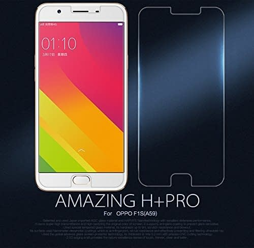 Original Nillkin Amazing H+ Pro 2.5D Arc Edge (0.2mm Extra Thin) 9H Hardness Anti-Explosion Tempered Glass Screen Protector for Oppo F1S 1