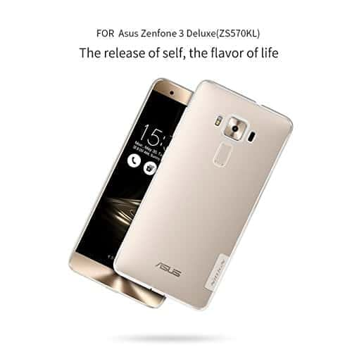 Nillkin Nature Soft TPU Back Cover Case Asus Zenfone 3 Deluxe ZS570KL (5.7 inch)- Clear White 3