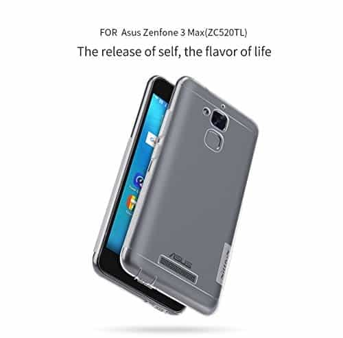Nillkin Nature TPU Soft Back Cover Case for Asus ZenFone 3 Max ZC520TL(5.2 inch)- Clear White (Check your mobile model before place your order) 3