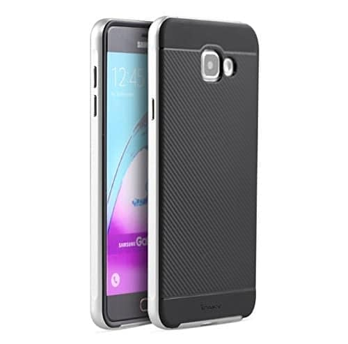 iPaky Brand High Quality Silicon Black Back + PC Silver Frame Shockproof Back Cover for Samsung Galaxy A7 -2016 Dual Sim SM-A710F 2