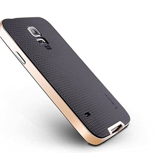 iPaky Hybrid Ultra Thin Shockproof Back + Bumper Case Cover for Samsung Galaxy S5 - Gold 1
