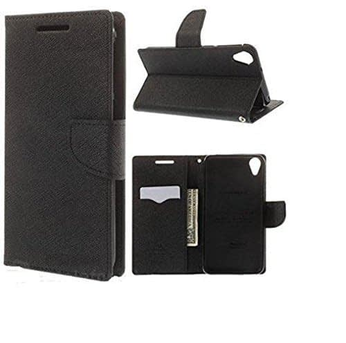 J.N. Mercury Fancy Diary Wallet Flip Case Back Cover for Nokia Lumia 520 - Black 1