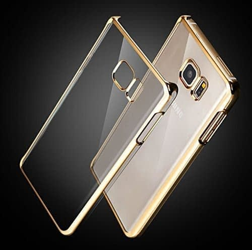 J.N. Meephone Noble Electroplated Edge Clear Hard Back Case Cover for Samsung Galaxy Note 5 - Gold 1