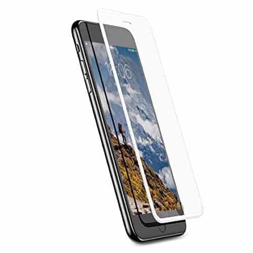 Baseus 3D Curved Silk-Screen (PET Soft Edge) 9H Full Coverage Edge to Edge (Dust Proof Design) Screen Tempered Glass Protector Guard for (Apple iPhone 6 6S / 7/8, White) 1