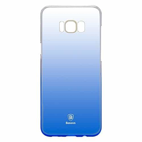 "Baseus Glaze Case For ""Samsung Galaxy S8 Plus"" Ultra Slim, Light Weight Gradual Colorful Case Gradient Change Color Clear Phone Shell Back Cover For ""Samsung Galaxy S8 Plus"" – Blue Dual Tone 3"