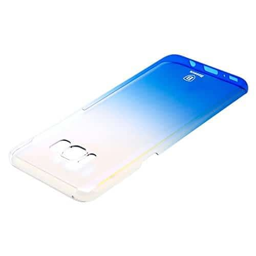 "Baseus Glaze Case For ""Samsung Galaxy S8 Plus"" Ultra Slim, Light Weight Gradual Colorful Case Gradient Change Color Clear Phone Shell Back Cover For ""Samsung Galaxy S8 Plus"" – Blue Dual Tone 5"