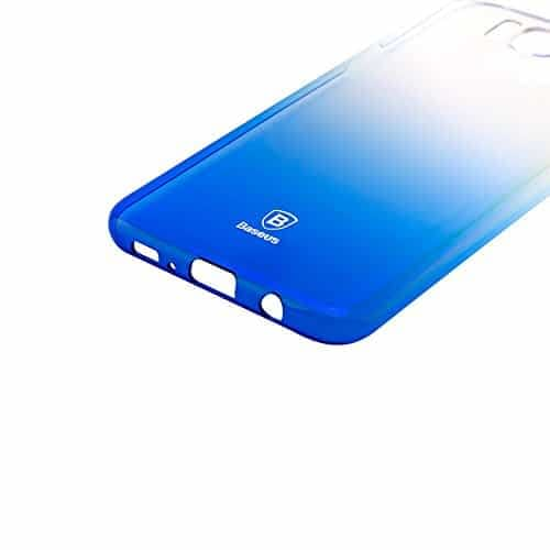"Baseus Glaze Case For ""Samsung Galaxy S8 Plus"" Ultra Slim, Light Weight Gradual Colorful Case Gradient Change Color Clear Phone Shell Back Cover For ""Samsung Galaxy S8 Plus"" – Blue Dual Tone 6"