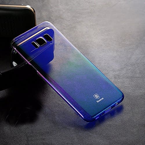 "Baseus Glaze Case For ""Samsung Galaxy S8 Plus"" Ultra Slim, Light Weight Gradual Colorful Case Gradient Change Color Clear Phone Shell Back Cover For ""Samsung Galaxy S8 Plus"" – Blue Dual Tone 7"