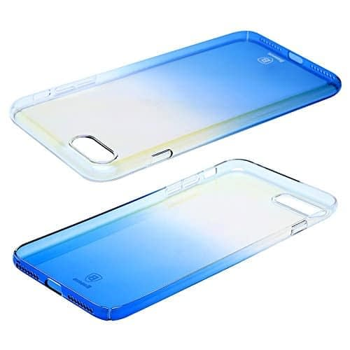 """Baseus Glaze Case For iPhone 7 (4.7"""" inch) Gradual Colorful Case Gradient Change Color Clear Phone Shell Back Cover For iPhone 7 (Blue) 4"""