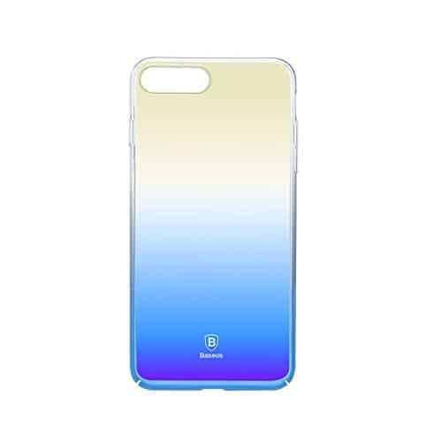 """Baseus Glaze Case For iPhone 7 (4.7"""" inch) Gradual Colorful Case Gradient Change Color Clear Phone Shell Back Cover For iPhone 7 (Blue) 5"""