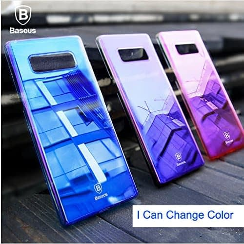 """Baseus Glaze Colorful Case For """"SAMSUNG Galaxy Note 8"""" Ultra Thin Anti-scratch Shockproof Double Colors PC Protective Back Cover Case For SAMSUNG Galaxy Note 8 - Purple 5"""