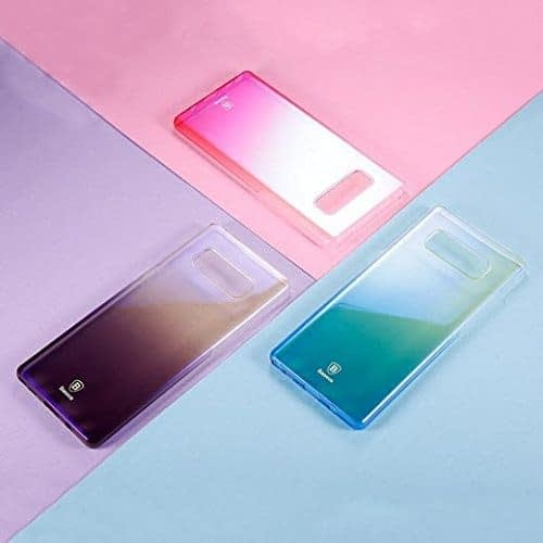 """Baseus Glaze Colorful Case For """"SAMSUNG Galaxy Note 8"""" Ultra Thin Anti-scratch Shockproof Double Colors PC Protective Back Cover Case For SAMSUNG Galaxy Note 8 - Purple 7"""