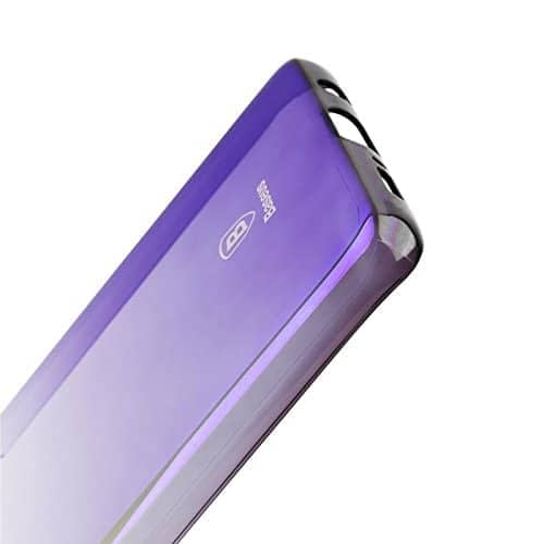 Baseus Glaze Colorful Case Ultra Thin Anti-Scratch Shockproof Double Colors Hard Plastic PC Protective Back Cover Case for Samsung Galaxy (Samsung Galaxy S9 Plus, Black/Purple) 3