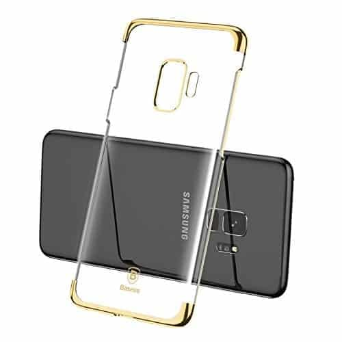 "Baseus Glitter Series for Samsung Galaxy S9 Plating Hard Plastic Back Cover Case for Samsung Galaxy S9 (5.8"") (Gold) 3"