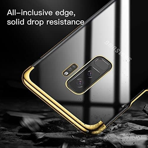 """Baseus Glitter Series for Samsung Galaxy S9 Plus Plating Hard Plastic Back Cover Case for Samsung Galaxy S9 Plus (6.2"""") (Gold) 4"""