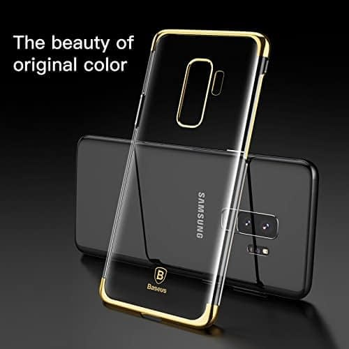"""Baseus Glitter Series for Samsung Galaxy S9 Plus Plating Hard Plastic Back Cover Case for Samsung Galaxy S9 Plus (6.2"""") (Gold) 5"""