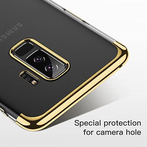"""Baseus Glitter Series for Samsung Galaxy S9 Plus Plating Hard Plastic Back Cover Case for Samsung Galaxy S9 Plus (6.2"""") (Gold) 6"""