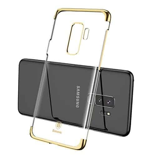 """Baseus Glitter Series for Samsung Galaxy S9 Plus Plating Hard Plastic Back Cover Case for Samsung Galaxy S9 Plus (6.2"""") (Gold) 1"""
