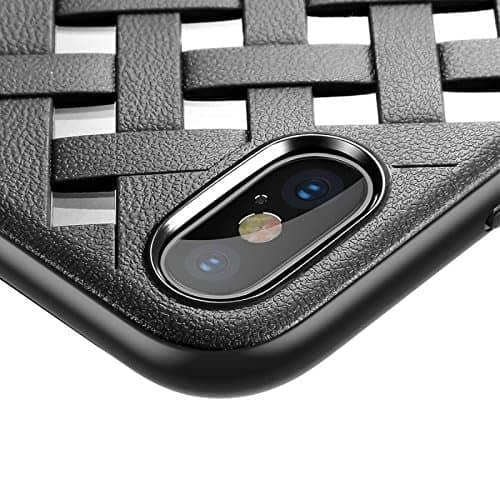 Baseus Paper-Cut Series PC + TPU Light and Thin Feel Anti-Impact Ultra Slim Back Cover Case for Apple iPhone (Apple iPhone X, Black) 5