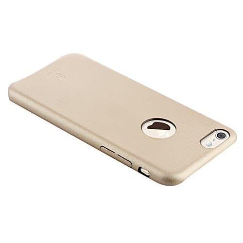 Baseus Super Ultra Thin 1mm PU Leather Finish Back Cover Case for iPhone 6, 4.7-Inch (Gold) 6