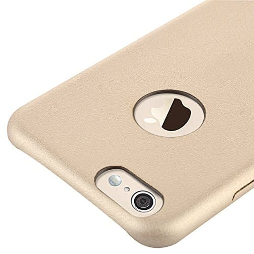 Baseus Super Ultra Thin 1mm PU Leather Finish Back Cover Case for iPhone 6, 4.7-Inch (Gold) 9