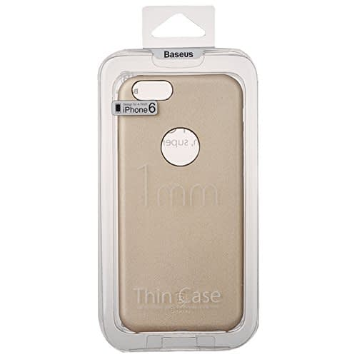 Baseus Super Ultra Thin 1mm PU Leather Finish Back Cover Case for iPhone 6, 4.7-Inch (Gold) 10