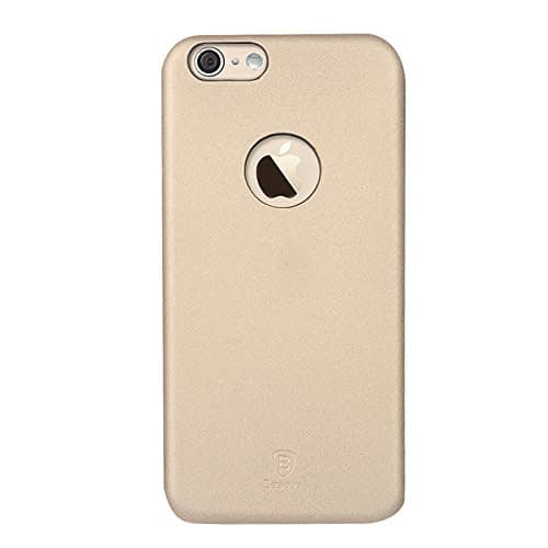 Baseus Super Ultra Thin 1mm PU Leather Finish Back Cover Case for iPhone 6, 4.7-Inch (Gold) 1