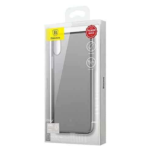Baseus Wing Case For iPhone X Transparent (Black) 5