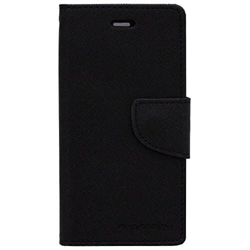Cubezap Mercury Goospery Fancy Diary Card Wallet Flip Case Back Cover for Sony Xperia C Experia S39H - Black 1