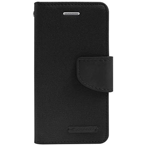 DW Canvas Dairy Mercury Fancy Diary CARD Wallet Flip Case Back Cover for Samsung Galaxy Grand i9082 / Grand Neo i9060 ( Black ) 1