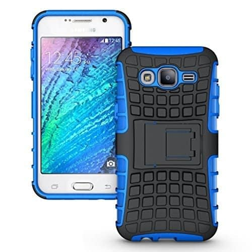 DW Kick Stand Hard Dual Protection Back Case Cover For Samsung Galaxy J5 Dual Sim - Blue 1