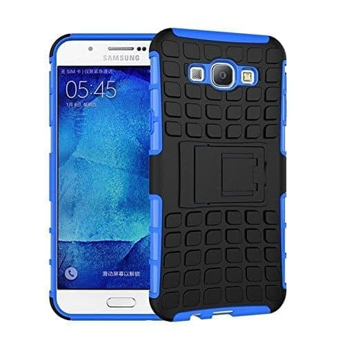 DW Kick Stand Spider Hard Dual Rugged Armor Hybrid Bumper Back Case Cover For Samsung Galaxy A8 - Blue 1