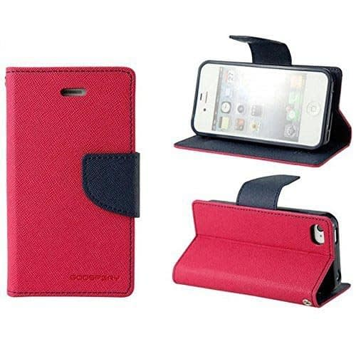 DW Mercury Fancy Diary CARD Wallet Flip Case Back Cover for Lenovo A7000 ( Pink ) 5