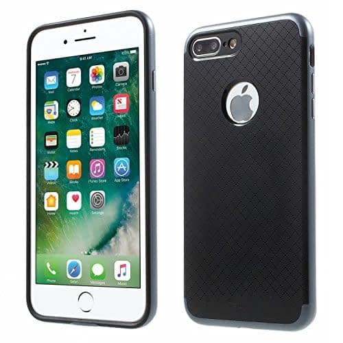 "[ For Apple iPhone 7 Plus ( 5.5"" ) ] Original iPaky Ultra Slim Fit Dual Layer [ Soft TPU + Hard PC ] Hybrid Bumper Back Case Cover Protective Skin for Apple iPhone 7 Plus ( 5.5 inch ) ( Grey Bumper + Black Back ) 3"