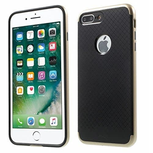 "[ For Apple iPhone 7 Plus ( 5.5"" ) ] Original iPaky Ultra Slim Fit Dual Layer [ Soft TPU + Hard PC ] Hybrid Bumper Back Case Cover Protective Skin for Apple iPhone 7 Plus ( 5.5 inch ) ( Gold Bumper + Black Back ) 1"
