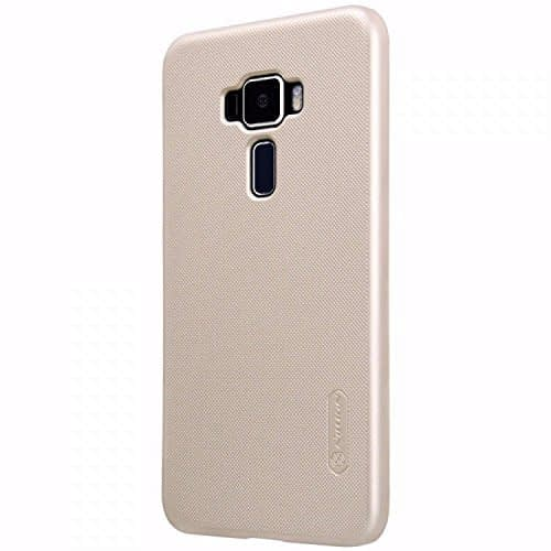 ( For Asus Zenfone 3 5.5 inch ZE552KL ) Original Nillkin Frosted Shield Hard Plastic Back Cover Case for Asus Zenfone 3 ( 5.5 inch ) (ZE552KL) ( Golden Color ) + Free Nillkin Screen Guard 1