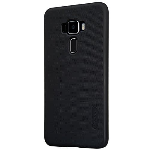 ( For Asus Zenfone 3 5.5 inch ZE552KL )Original Nillkin Frosted Shield Hard Plastic Back Cover Case for Asus Zenfone 3 ( 5.5 inch ) (ZE552KL) ( Black Color ) + Free Nillkin Screen Guard 1