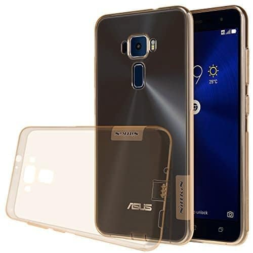 [ For Asus Zenfone 3 ( ZE520KL ) ( 5.2 inch Display ) ] Original Nillkin 0.6MM Nature Soft TPU Back Cover Case for Asus Zenfone 3 ( ZE520KL ) ( 5.2 inch ) - ( Brown Color ) 1