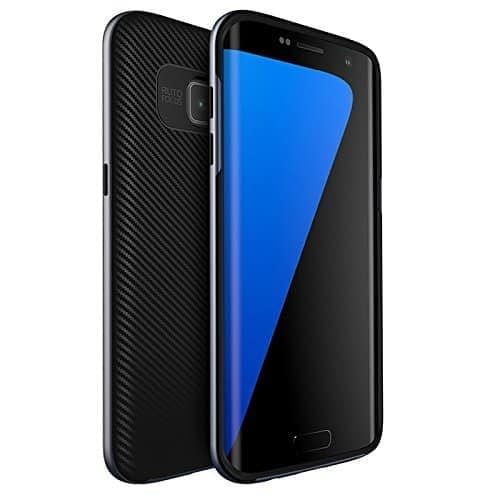 Ipaky Silicon Black Back + PC Grey Bumper Frame Shockproof Back Cover For Samsung Galaxy S7 Edge -Grey 1