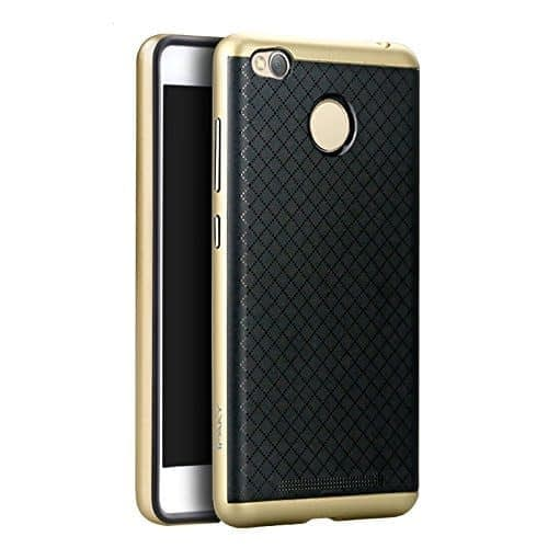 Ipaky Ultra Thin Shockproof Back + Case Cover For Xiaomi Redmi 3S Prime - Gold 1