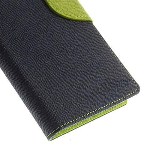 J.N. Mercury Fancy Diary Card Wallet Flip Case Back Cover For Micromax Unite2 A106 (Blue Green) 4