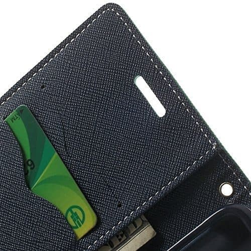 J.N. Mercury Fancy Diary Card Wallet Flip Case Back Cover For Micromax Unite2 A106 (Blue Green) 5