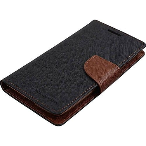 Kapa Mercury Goospery Flip Wallet Case Cover for Moto G2 (2nd Gen) - Black/Brown 4